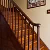 Original staircase with blackwood bannister and pine stairs.