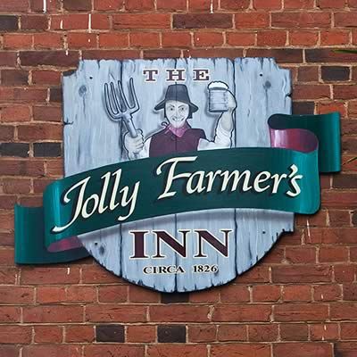 Jolly Farmer's Inn sign